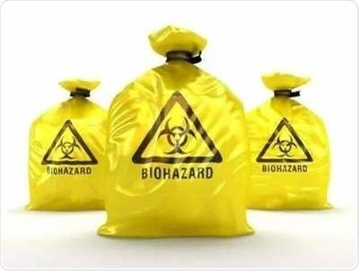 5 Mil 86 Cm X 70cm Disposable Trash Biohazard Garbage Bags