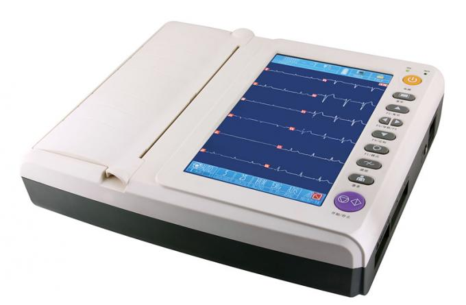 Touch Display , 12 Leads ECG Monitoring System 12 Channel Format Recording